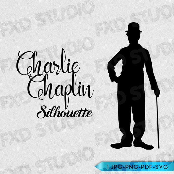 Charlie Chaplin Silhouette Clip Art Image, Charlie Chaplin ...