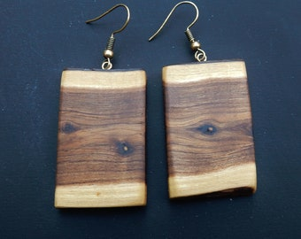 wooden earrings, Calicotome Vilosa, furze, earrings, natural wood jewlery, gift for her