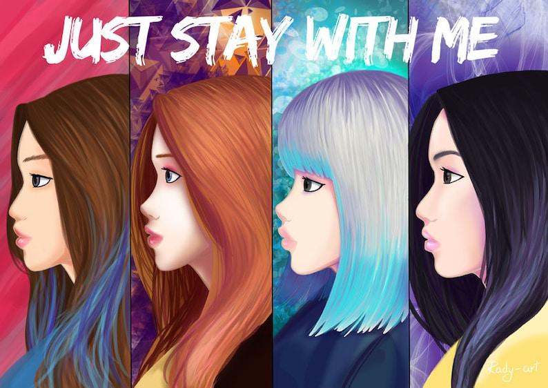 Blackpink, stay poster, fanart, k-pop