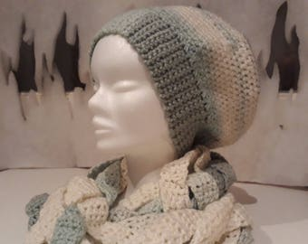 Braided crochet hat and Snood