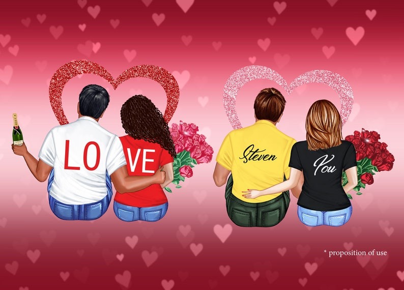 I love You clipart Add on,Valentines day bundle romantic Love Couples clipart Valentines Day clipart Engagement clipart Custom People