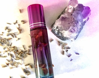 Aurora Amethyst - Mini Roll On Chemical Free and Natural Perfume Oil