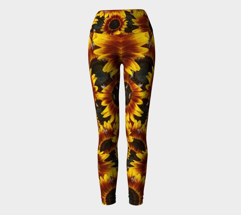 Yoga Leggings Sunflower High Waist Comfort