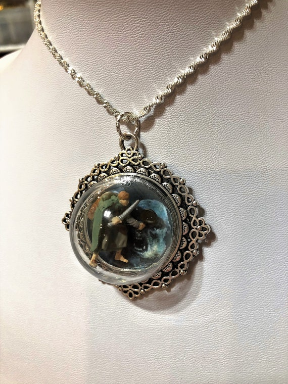 Samwise Gamgee Sam Lord Of The Rings Silver Pendant Necklace Etsy