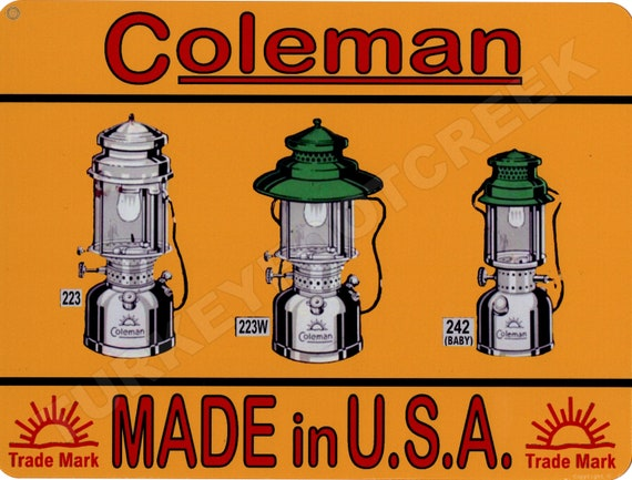 """COLEMAN Sign Made In USA 9"""" x 12"""""""
