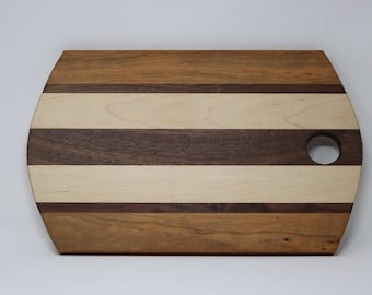 Cutting Board, Walnut Accent, Rounded Ends