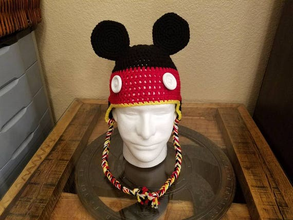 cba3b7a4 50% off mickey mouse crochet hat disney hat kids character hat 15af2 bdf9c