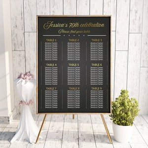 event seating chart etsy