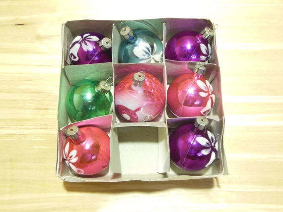 image 0 - Vintage Christmas Tree Ornaments Soviet Christmas Ornaments Etsy