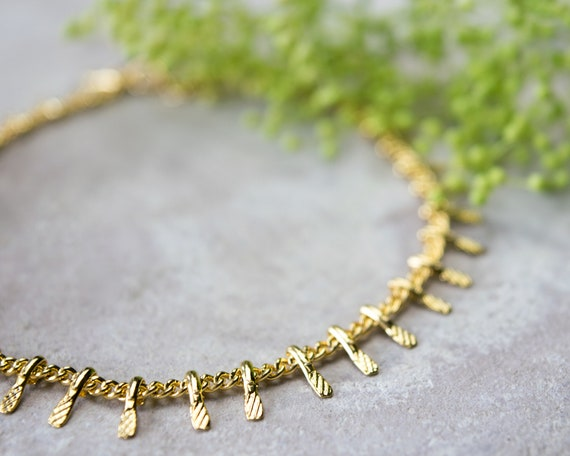 Summer Bohemian Beach Anklet Anklet for Women Handmade Jewelry by Annikabella Dainty Gold Chain Ankle Bracelet made of Gold Filled with Karma Circle Pendant