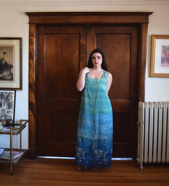 18b135fa781 Plus Size Dress 90s Dress Maxi Dress Green Dress Size
