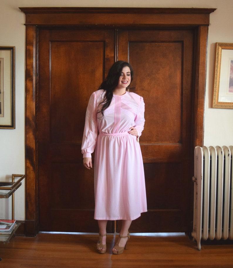 80s Dress | Plus Size Dress | Light Pink Dress | Sweater Dress | NWT  Vintage Dress | NOS Dress | Size XLarge Dress XL | Size 16 Dress 1X