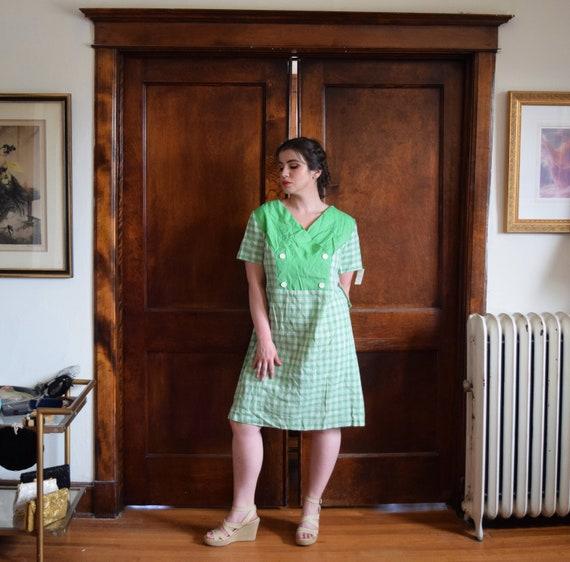 Green Dress   60s Dress   Checkered Dress   Mod Dr