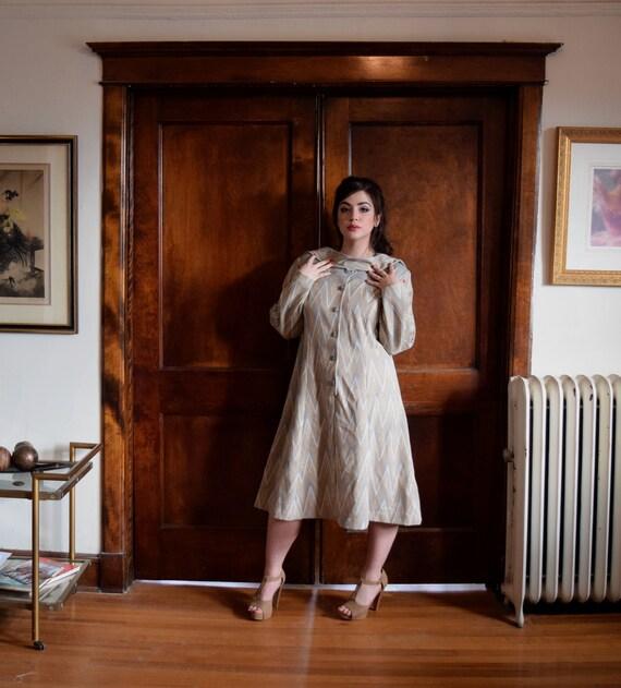 Sweater Dress | Plus Size Dress | Gray Dress | Chevron Dress | Size XXLarge  Dress XXL | Size 22 Dress 2X | Mod Dress | Mid Century Dress MCM