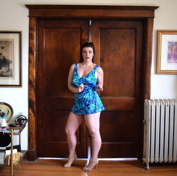 Skirted Swimsuit | Blue Swimsuit | One Piece Swim… - image 3