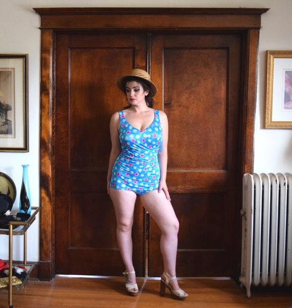 60s Swimsuit | One Piece Swimsuit | Plus Size Swi… - image 3