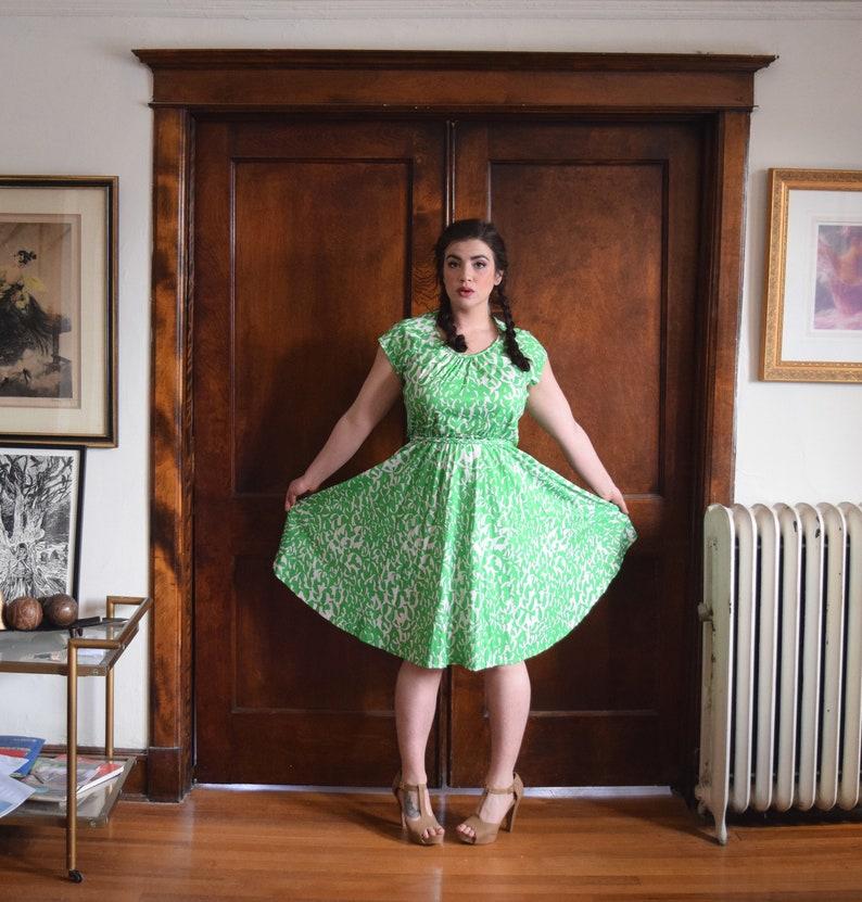 70s Dress | Lime Green Dress | Plus Size Dress | Wedding Guest Dress | Size  XLarge Dress XL | Size 16 Dress 1X | NWT Vintage Dress NOS
