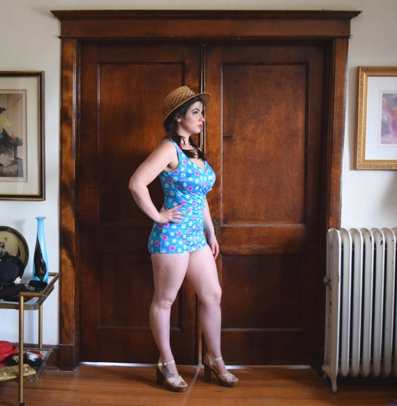 60s Swimsuit | One Piece Swimsuit | Plus Size Swi… - image 8