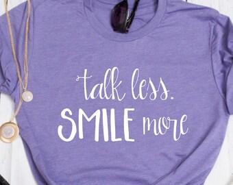 Talk Less Smile More Shirt // Alexander Hamilton // Hamilton Musical Shirt // Revolutionaries // Hamilton Shirt // Aaron Burr Shirt // Talk