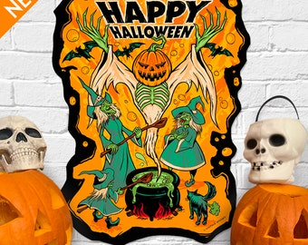 Halloween Magic - Vintage Style Halloween Die Cut Decoration
