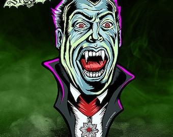 Dracula Vintage Style Halloween Die Cut Decoration