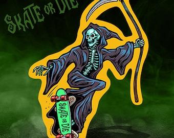 Skate or Die! Die Cut Decoration