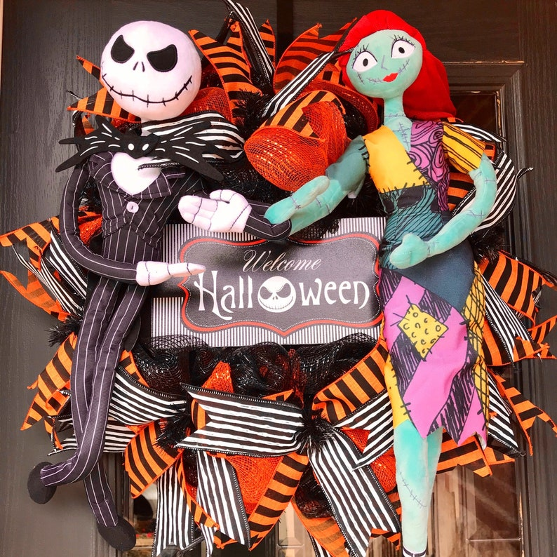 Disney Wreath Jack Skellington Wreath Jack and Sally Disney image 0