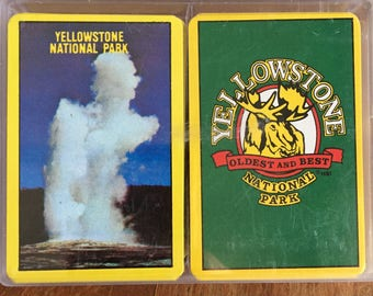 Yellowstone National Park Playing Cards