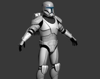 Clone Trooper Cosplay Armor 3d Print Model Etsy
