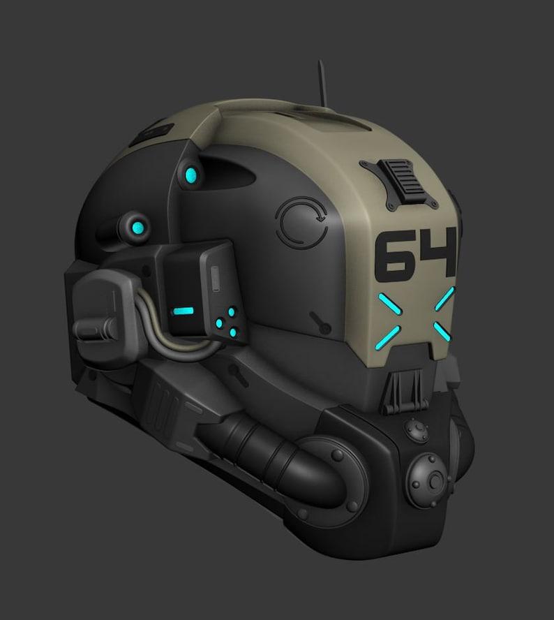 Titanfall Droz Helmet 3d printable file | Etsy