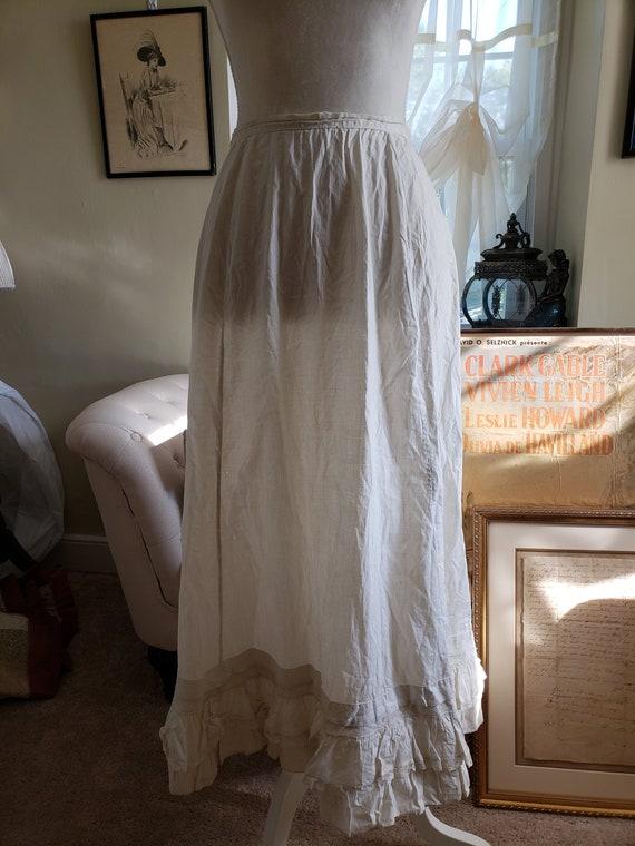 Antique Edwardian Petticoat Skirt