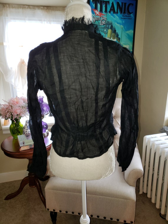 1900s Sheer Corset Cover Blouse