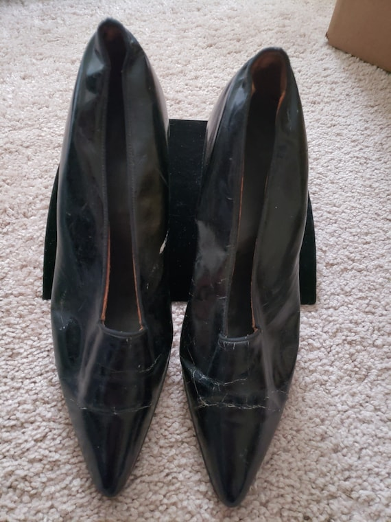 Edwardian 1900's Pointy Leather shoes