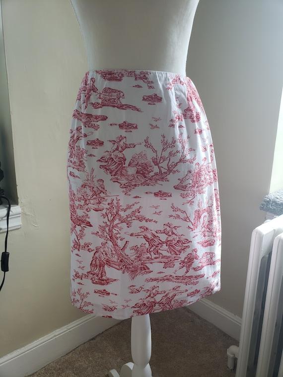 1980's Toile Skirt