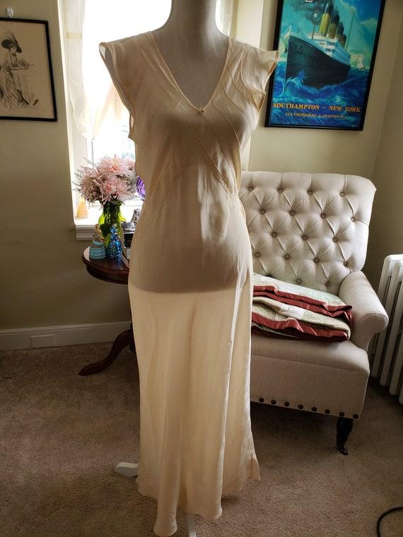 1930s Peach Sheer Nightgown Lingerie