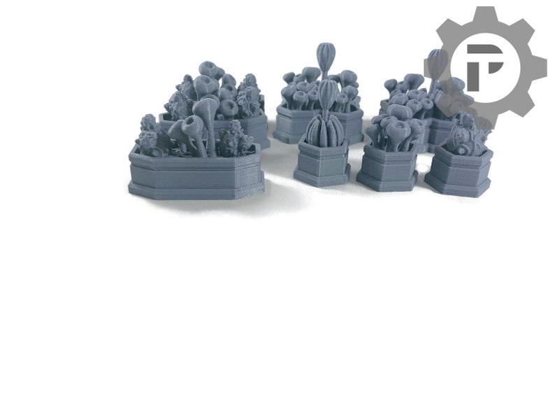 Dragons Rest Sci Fi Planter Set 28mm Wargame Terrain Great For image 0