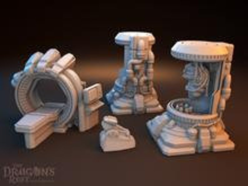 Dragons Rest Sci Fi Bio Lab Set 28mm Wargame Terrain Great For image 0