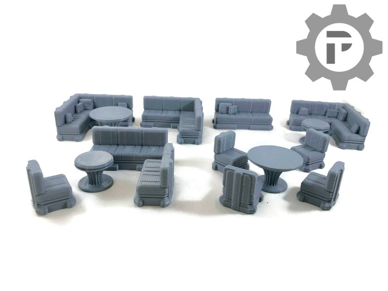 Dragons Rest Sci Fi Seating Area Set 28mm Wargame Terrain image 0