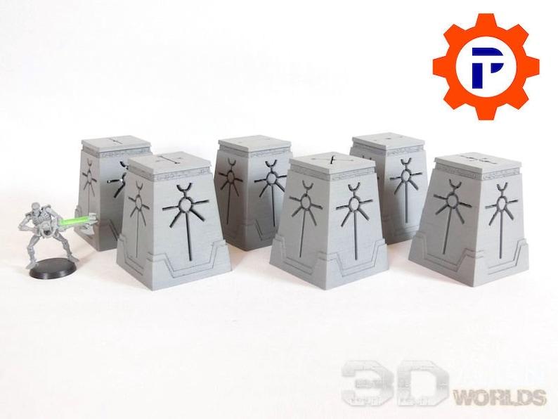 3D Alien Worlds Necrontyr Objective Set 28mm Terrain for image 0