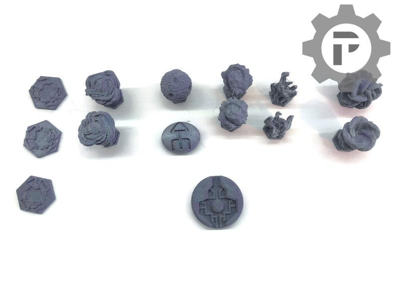 Dragons Rest Tri Hex Citadel Marker Upgrade Set for Blackstone image 0