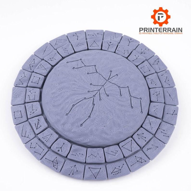 Wargame Terrain  Rune Stone Dais  28mm  Warhammer  image 0