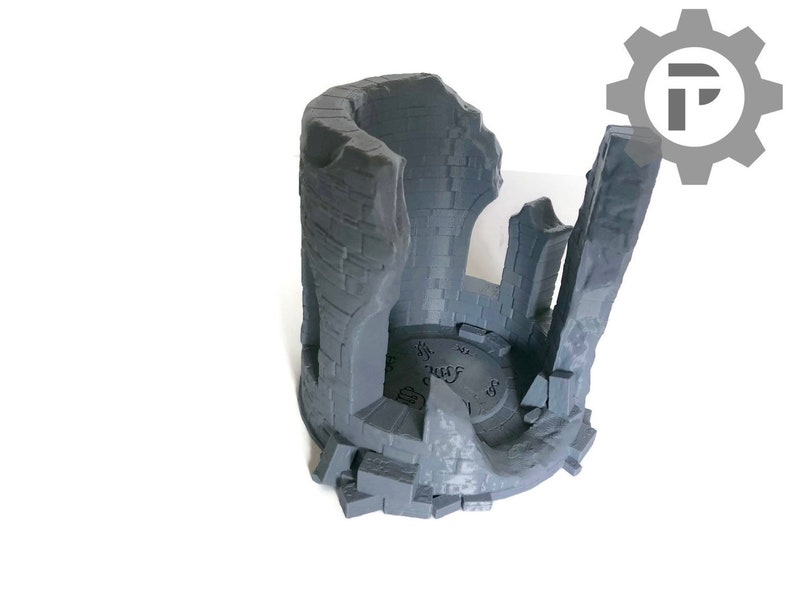 corvus Games Terrain Ruined Wizards Tower  28mm Wargame Terrain that's  great for Warhammer AoS, Kings of War, Frostgrave, LOTR