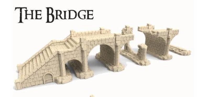 STORMGUARD Shattered Bridge Set by RM Studio Terrain. 28mm image 0