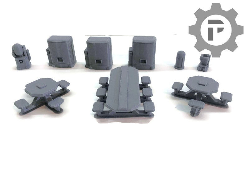 Dragons Rest Sci Fi Canteen Set 28mm Wargame Terrain Great For image 0