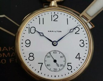 2d1845af5 Antique 1922 HAMILTON Pocket Watch 910- 17 Jewels Fully Serviced w/ WARRANTY