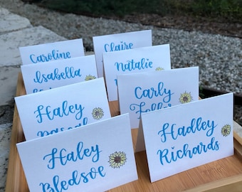Wedding Place Cards, Handlettered Calligraphy, customized for weddings or special events
