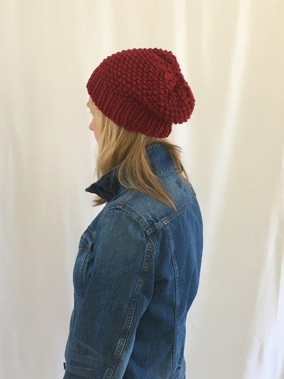 1e2a0925124 Seed hat Ruby  Organic merino wool hat slouchy hat slouchy
