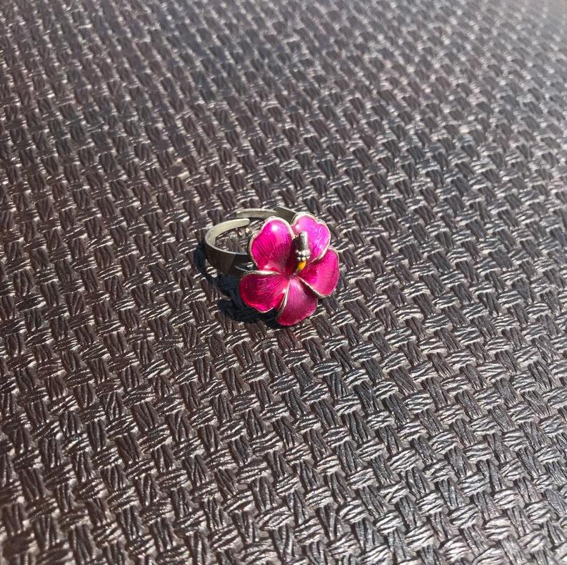 Flower Ring  Pink Floral Ring