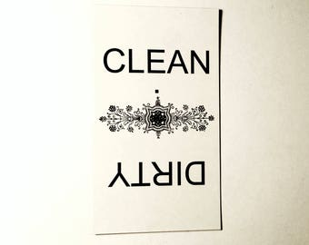 Clean/Dirty Dishwasher Magnet, Great Stocking Stuffers!