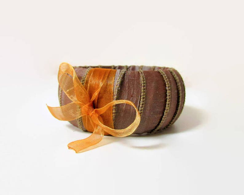 Real Silk Boho Bangle Bracelet Fabric Bangle